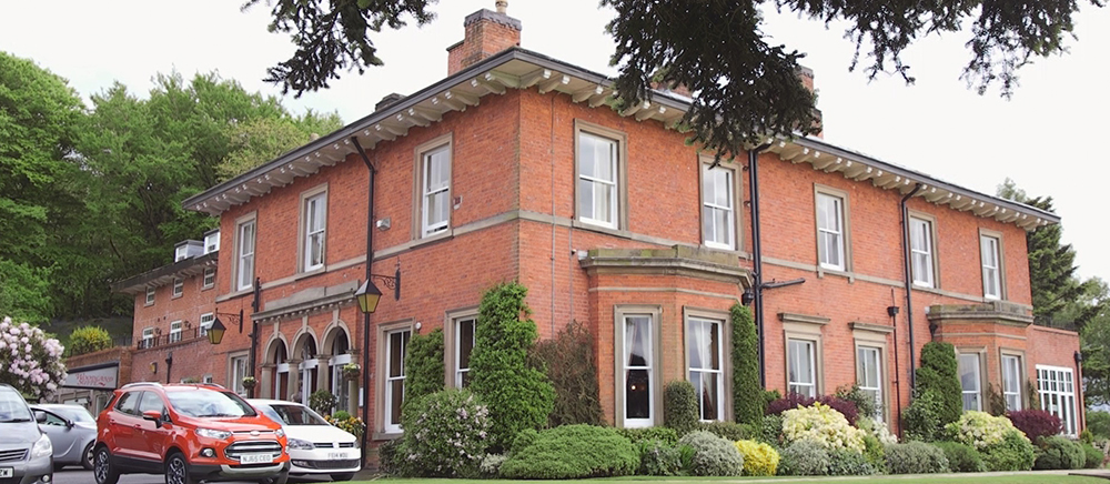 Filming weddings in Staffordshire at The Upper House Hotel, Barlaston