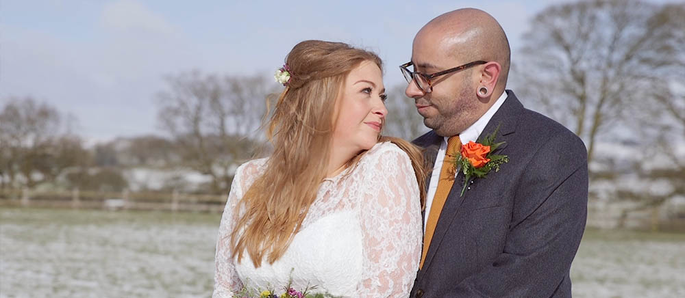 Jenny & Sanj's winter wedding at Heaton House Farm, Staffordshire